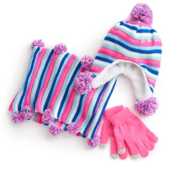 8b0ad7cddc0 Girls Fashion 3 Piece Winter Hat